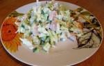 Куриный салат с огурцами и цветной капустой